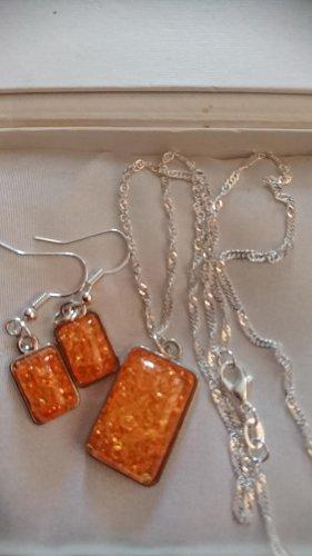 Schmuck Collier Necklace apricot