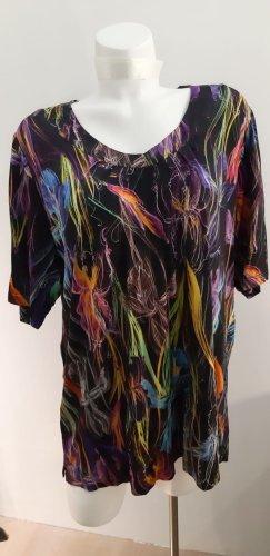Batik shirt licht Oranje-lila