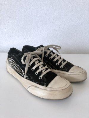 Candice Cooper Sneaker stringata nero-crema Pelle