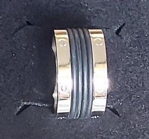 Pippa & Jean Partner Ring black-silver-colored