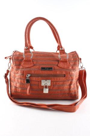 Edel&Stark Borsa a spalla arancione chiaro-bronzo motivo a righe stile casual