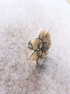 Anthropologie Bague incrustée de pierres multicolore métal