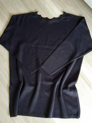 Apart Fashion Lange jumper zwart Katoen