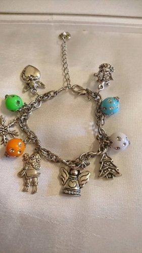 Edelmetall  Armband mit Charms- -Handmade