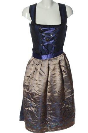 Edelnice Dirndl bleu-bronze style décontracté