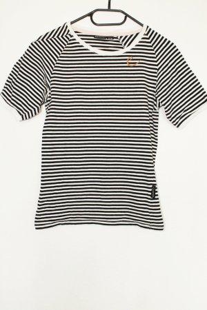 Edelrid T-Shirt gestreift Logo Affe
