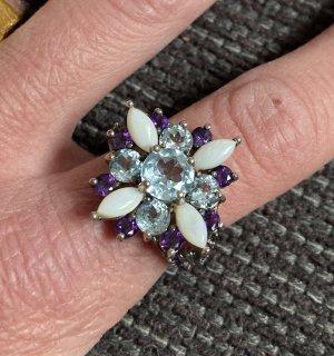 QVC Zilveren ring veelkleurig