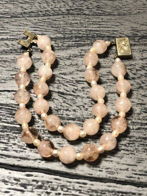 Vintage Pearl Bracelet rose-gold-coloured-sand brown
