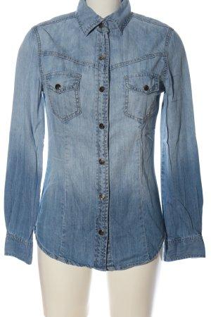 Eden Girl Camicia denim blu stile casual