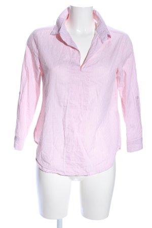 Schlupf-Bluse pink-weiß Streifenmuster Business-Look