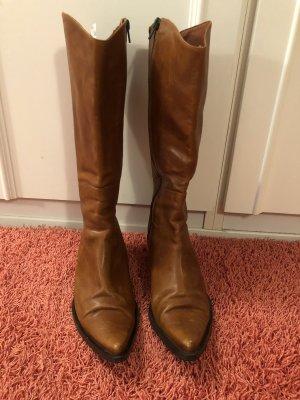 Eden Boots western marron clair-noir