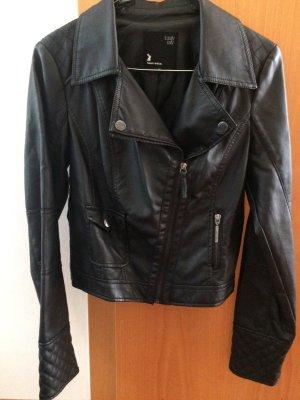 Tally Weijl Faux Leather Jacket black imitation leather