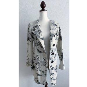 Edina Ronay leichter Mantel Jacke Designer beige grau schwarz Größe S 36