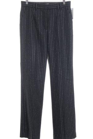 Edited Spodnie garniturowe czarny-biały W stylu biznesowym