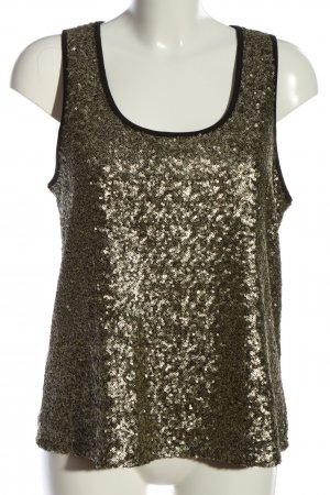 Edited Basic topje goud casual uitstraling