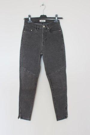 Edited Biker Jeans in grau