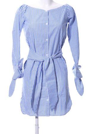 Edited Blusenkleid blau-weiß Streifenmuster Casual-Look