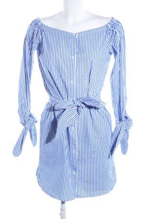 Edited Blusenkleid blau-weiß Streifenmuster Business-Look