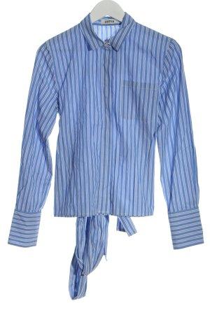 Edited Colletto camicia blu-bianco motivo a righe stile professionale