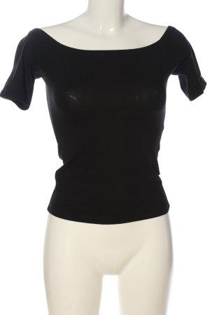 Edited Camisa tipo Carmen negro look casual