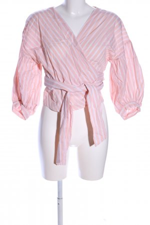 Edited Cropped Shirt pink-weiß Allover-Druck Business-Look