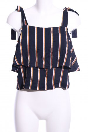 Edited Cropped Top Streifenmuster Casual-Look