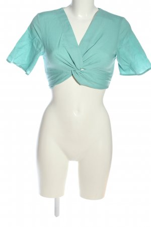 Edited Cropped top turkoois casual uitstraling