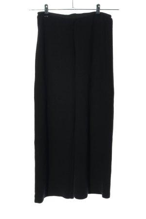 Edited Falda pantalón de pernera ancha negro tejido mezclado