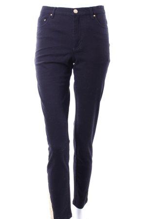Edited Pantalon cinq poches noir-doré coton
