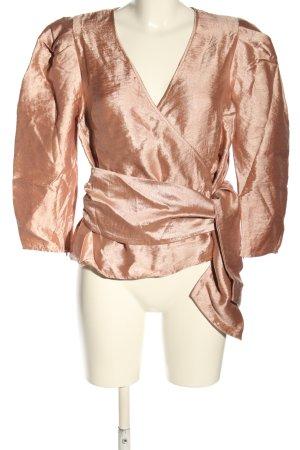 Edited Blusa brillante marrón elegante
