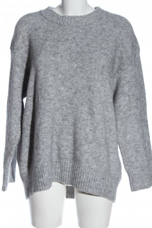 Edited Coarse Knitted Sweater light grey casual look