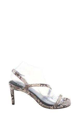 Edited High Heel Sandaletten hellgrau Animalmuster Elegant