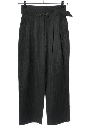 Edited Pantalone a vita alta nero motivo a righe stile professionale