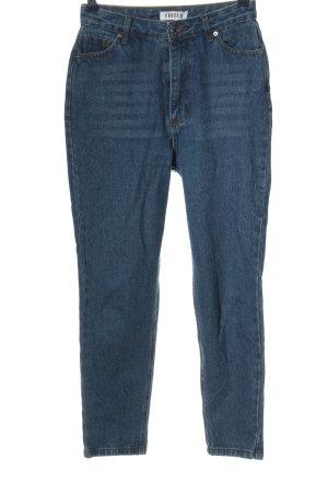 Edited Jeansy z wysokim stanem niebieski W stylu casual