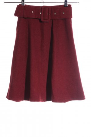 Edited Jupe taille haute rouge style d'affaires