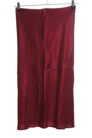 Edited Spódnica z wysokim stanem czerwony Tkanina z mieszanych włókien