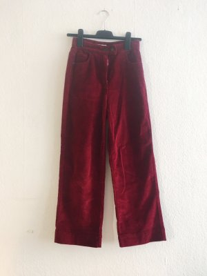 Edited high waisted cord hose culottes weinrot