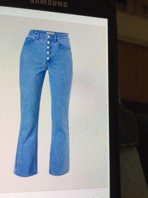 Edited 3/4 Length Trousers cornflower blue