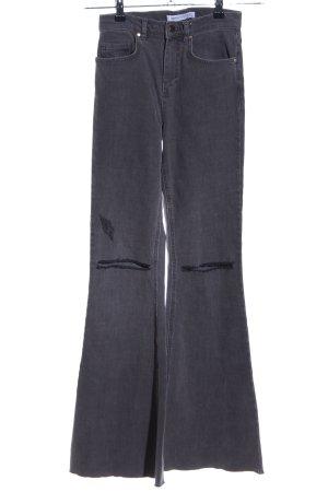 Edited Jeans flare noir style décontracté