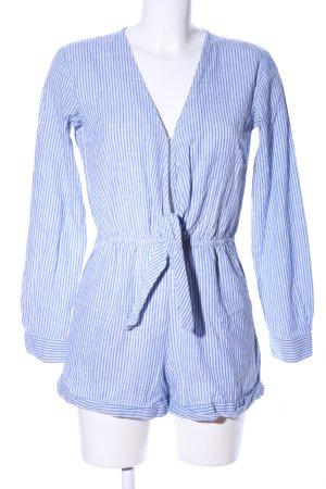 Edited Jumpsuit blau-weiß Streifenmuster Casual-Look