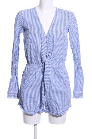 Edited Jumpsuit blau-weiß Streifenmuster Elegant