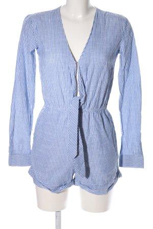 Edited Tuta blu-bianco motivo a righe stile casual