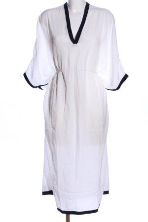 Edited Caftán blanco-negro elegante