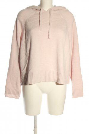 Edited Sweter z kapturem różowy W stylu casual