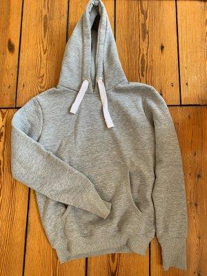 Edited Sweat à capuche gris clair-noir coton