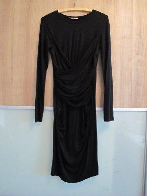 EDITEd Kleid gerafft schwarz 38 mehrlagig
