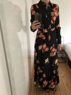 Edited Kleid Maxikleid Dress Blumen Muster schwarz