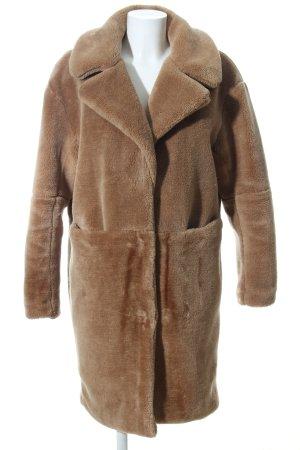 Edited Cappotto in eco pelliccia marrone stile casual