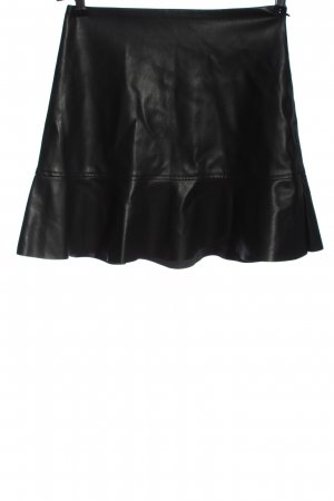 Edited Faux Leather Skirt black casual look