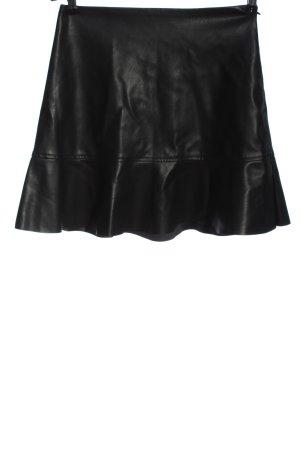 Edited Jupe en cuir synthétique noir style décontracté